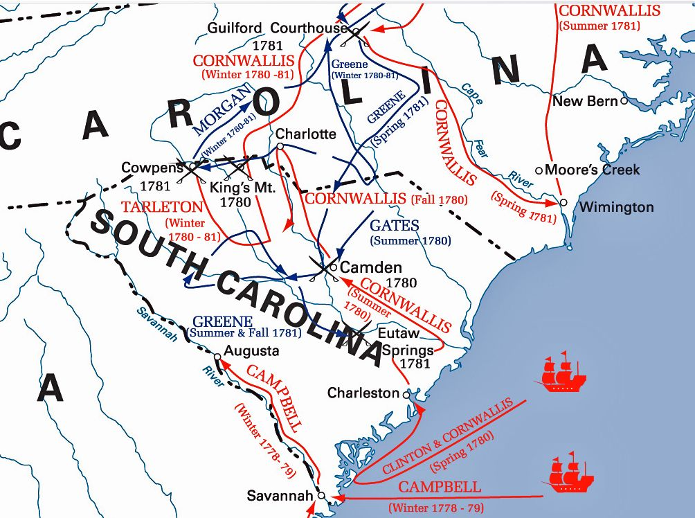 Charleston SC Revolutionary War Maps (1776 Defense of Charleston)